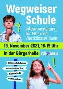 Infoveranstaltung: Wegweiser Schule @ Bürgerhalle   Gronau (Westfalen)   Nordrhein-Westfalen   Deutschland